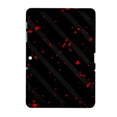 Black and red Samsung Galaxy Tab 2 (10.1 ) P5100 Hardshell Case