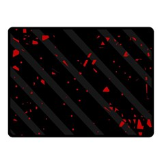 Black and red Double Sided Fleece Blanket (Small)