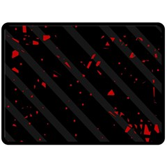 Black and red Double Sided Fleece Blanket (Large)