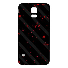 Black and red Samsung Galaxy S5 Back Case (White)