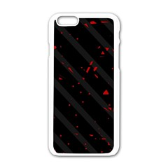 Black and red Apple iPhone 6/6S White Enamel Case