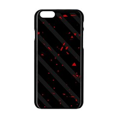 Black and red Apple iPhone 6/6S Black Enamel Case