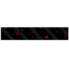 Black and red Flano Scarf (Large)