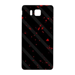 Black and red Samsung Galaxy Alpha Hardshell Back Case