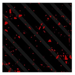 Black and red Large Satin Scarf (Square)