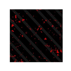 Black and red Small Satin Scarf (Square)