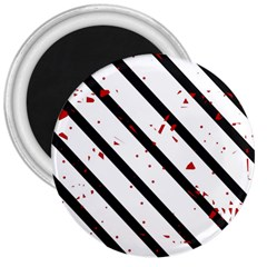 Elegant black, red and white lines 3  Magnets