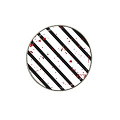 Elegant black, red and white lines Hat Clip Ball Marker