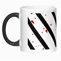 Elegant black, red and white lines Morph Mugs