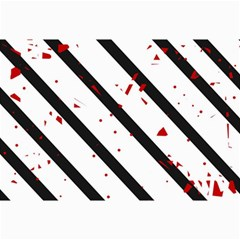 Elegant black, red and white lines Collage Prints