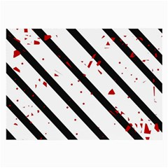Elegant black, red and white lines Large Glasses Cloth (2-Side)