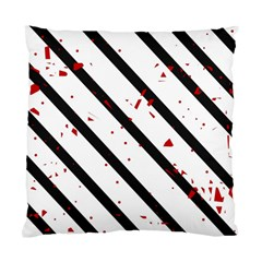 Elegant black, red and white lines Standard Cushion Case (Two Sides)
