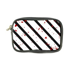 Elegant black, red and white lines Coin Purse