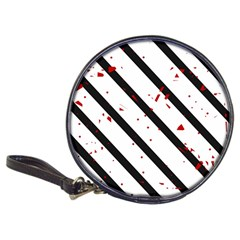 Elegant black, red and white lines Classic 20-CD Wallets