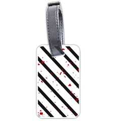 Elegant black, red and white lines Luggage Tags (One Side)