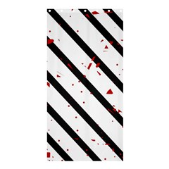 Elegant black, red and white lines Shower Curtain 36  x 72  (Stall)