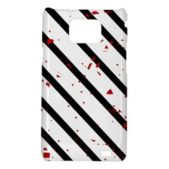 Elegant black, red and white lines Samsung Galaxy S2 i9100 Hardshell Case