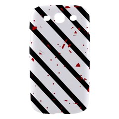 Elegant black, red and white lines Samsung Galaxy S III Hardshell Case