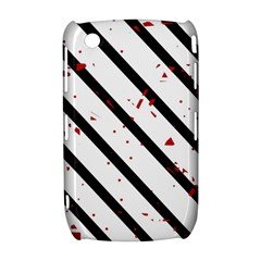 Elegant black, red and white lines Curve 8520 9300