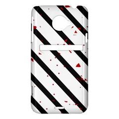 Elegant black, red and white lines HTC Evo 4G LTE Hardshell Case