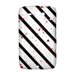 Elegant black, red and white lines HTC ChaCha / HTC Status Hardshell Case