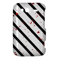 Elegant black, red and white lines HTC Wildfire S A510e Hardshell Case