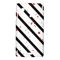 Elegant black, red and white lines Sony Xperia Arc