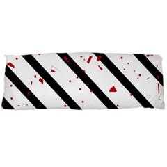 Elegant black, red and white lines Body Pillow Case (Dakimakura)