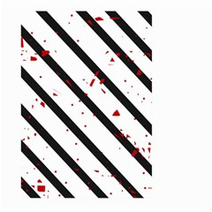 Elegant black, red and white lines Large Garden Flag (Two Sides)