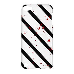 Elegant black, red and white lines Apple iPod Touch 5 Hardshell Case