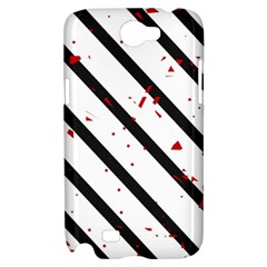 Elegant black, red and white lines Samsung Galaxy Note 2 Hardshell Case