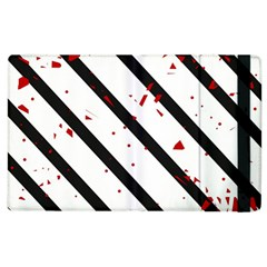 Elegant black, red and white lines Apple iPad 2 Flip Case