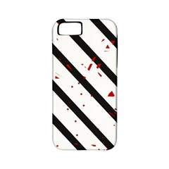 Elegant black, red and white lines Apple iPhone 5 Classic Hardshell Case (PC+Silicone)