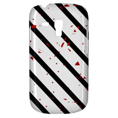 Elegant black, red and white lines Samsung Galaxy S3 MINI I8190 Hardshell Case