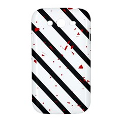 Elegant black, red and white lines Samsung Galaxy Grand DUOS I9082 Hardshell Case