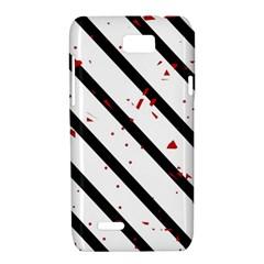 Elegant black, red and white lines Motorola XT788