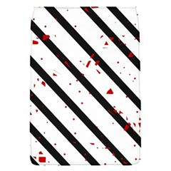Elegant black, red and white lines Flap Covers (S)