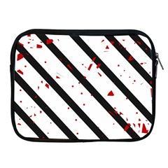 Elegant black, red and white lines Apple iPad 2/3/4 Zipper Cases