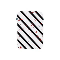 Elegant black, red and white lines Apple iPad Mini Protective Soft Cases