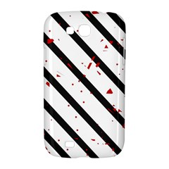 Elegant black, red and white lines Samsung Galaxy Grand GT-I9128 Hardshell Case
