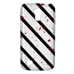 Elegant black, red and white lines Galaxy S4 Mini