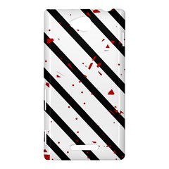Elegant black, red and white lines Sony Xperia C (S39H)