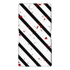 Elegant black, red and white lines Sony Xperia Z Ultra