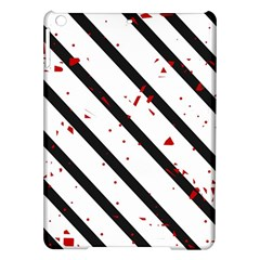 Elegant black, red and white lines iPad Air Hardshell Cases