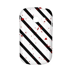 Elegant black, red and white lines Samsung Galaxy S6810 Hardshell Case
