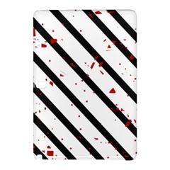 Elegant black, red and white lines Samsung Galaxy Tab Pro 12.2 Hardshell Case