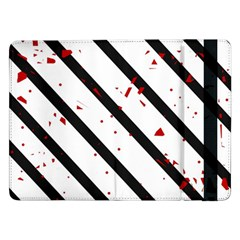 Elegant black, red and white lines Samsung Galaxy Tab Pro 12.2  Flip Case