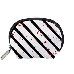 Elegant black, red and white lines Accessory Pouches (Small)