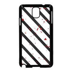 Elegant black, red and white lines Samsung Galaxy Note 3 Neo Hardshell Case (Black)