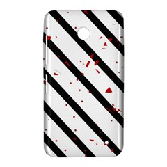 Elegant black, red and white lines Nokia Lumia 630